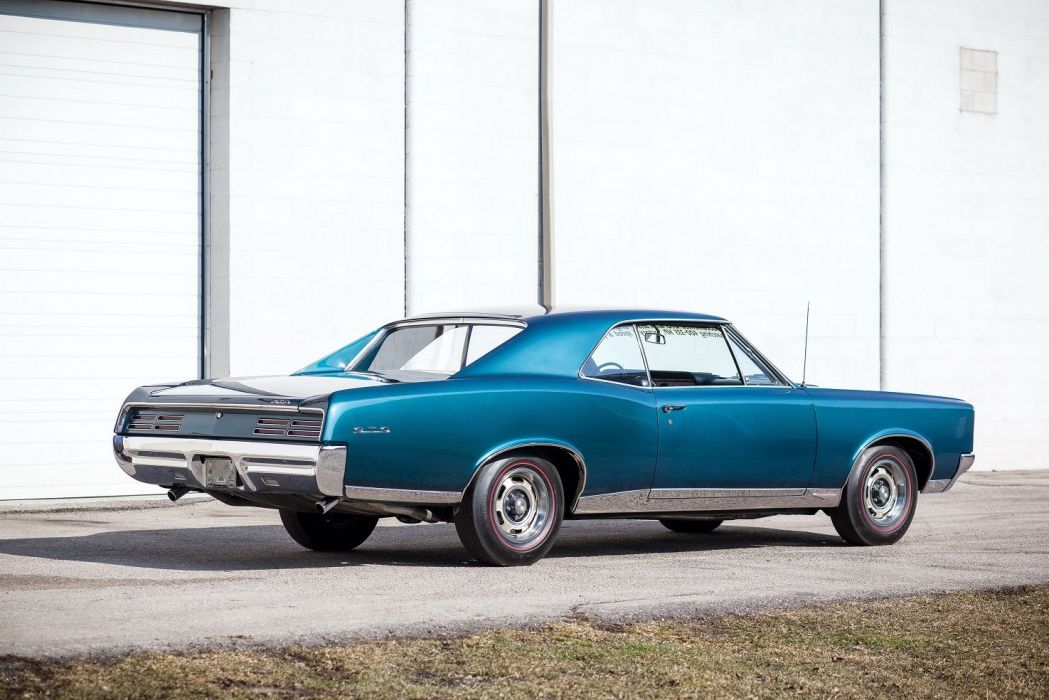 1967 Pontiac Tempest GTO Hardtop Coupe blue cars classic wallpaper