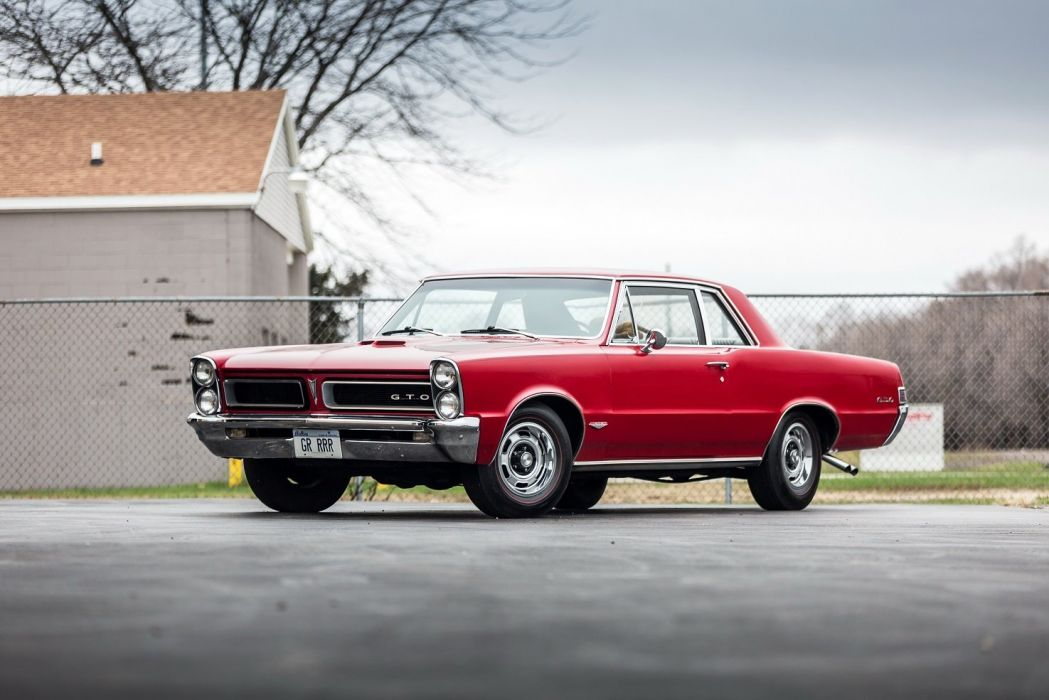 1965 Pontiac Tempest GTO Hardtop Coupe blue red classic wallpaper