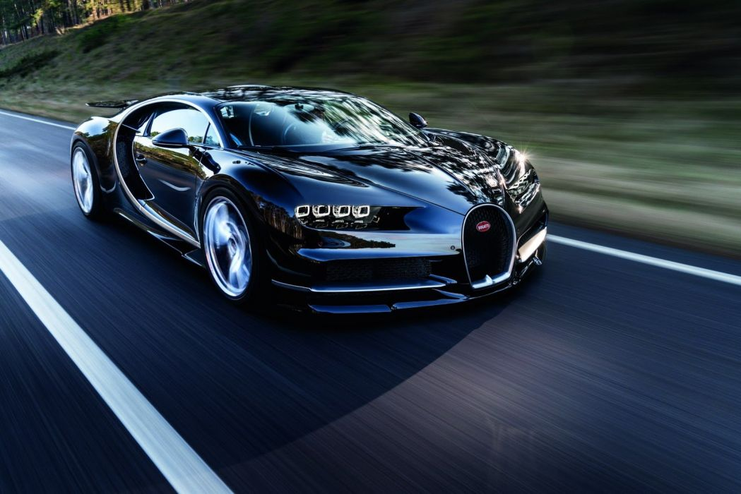 Bugatti Chiron cars supercars blue 2016 wallpaper