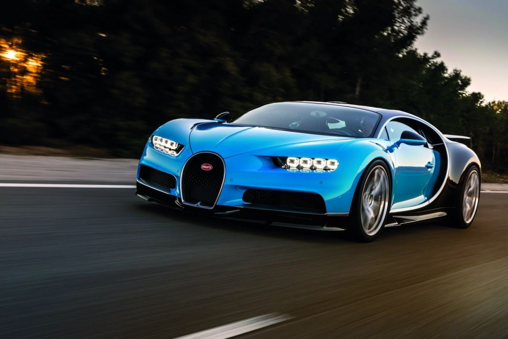 Bugatti Chiron cars supercars blue 2016 wallpaper