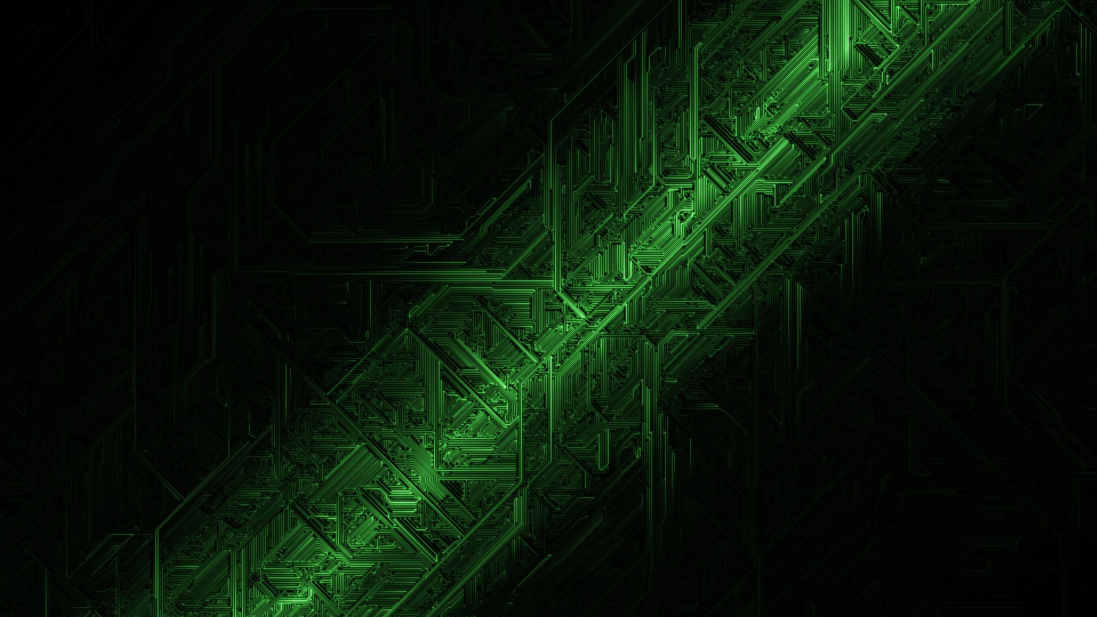 Electronics machine technology circuit electronic computer - Green abstract background hd ...