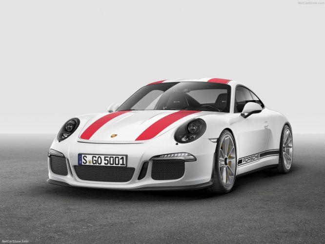 Porsche 911 R cars coupe white 2016 wallpaper