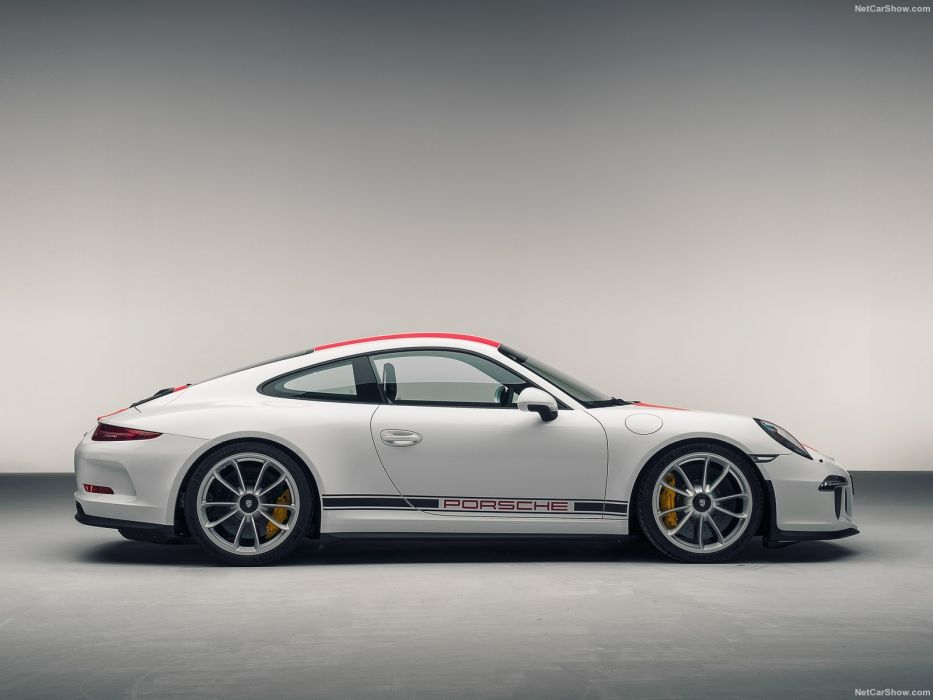 Porsche 911 R cars coupe white 2016 wallpaper