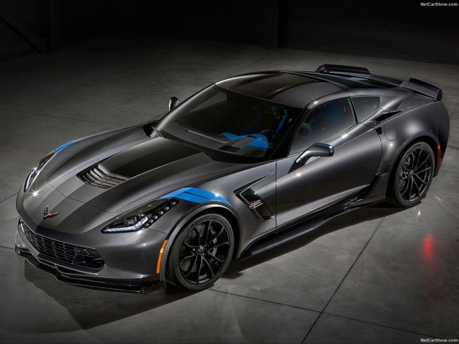 Chevrolet Corvette Grand Sport (c7) coupe cars black 2016 wallpaper