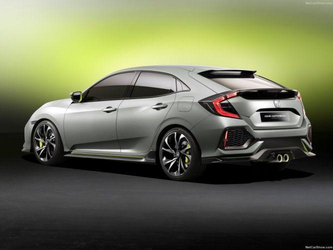 Honda Civic Hatchback Concept cars 2016 wallpaper