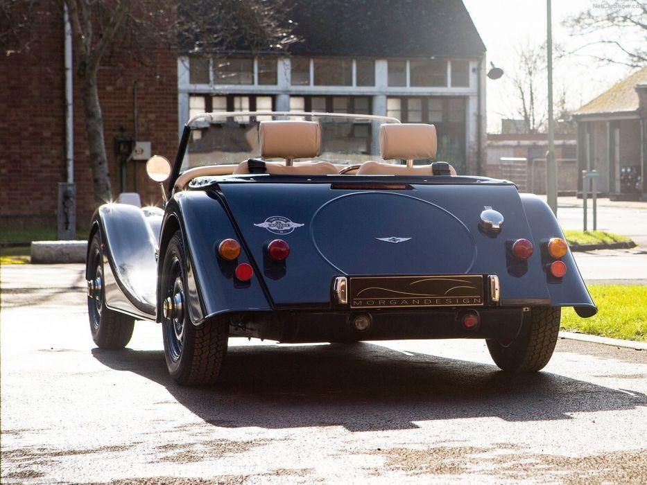 Morgan 4-4 80th Anniversary roadster blue cars 2016 wallpaper