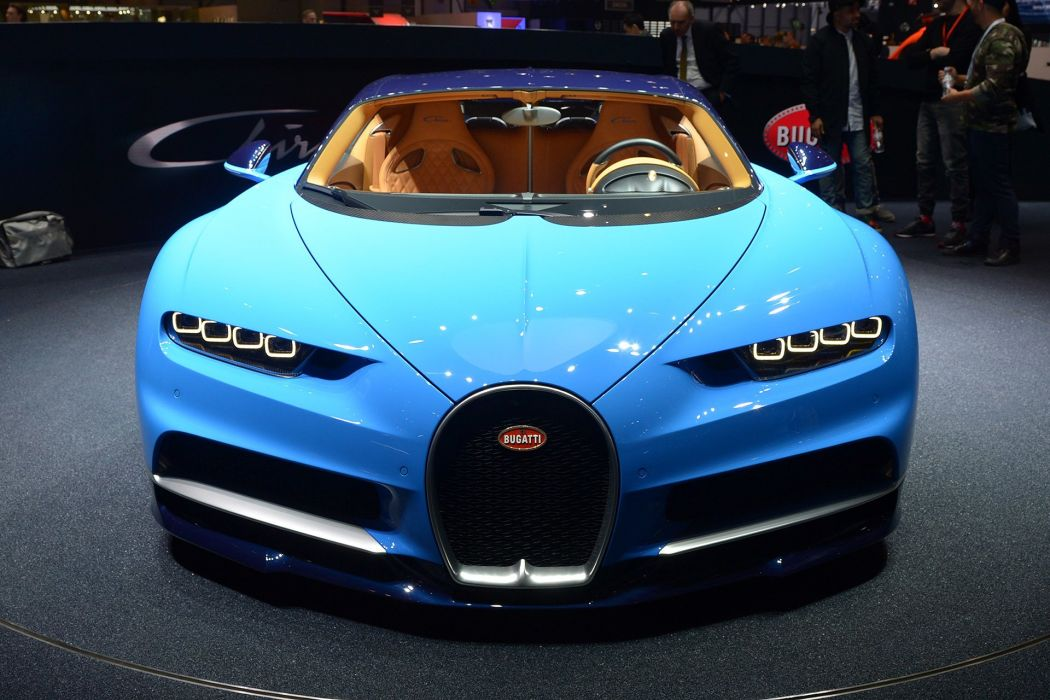 2016 Geneva Motor Show Bugatti Chiron supercars cars wallpaper