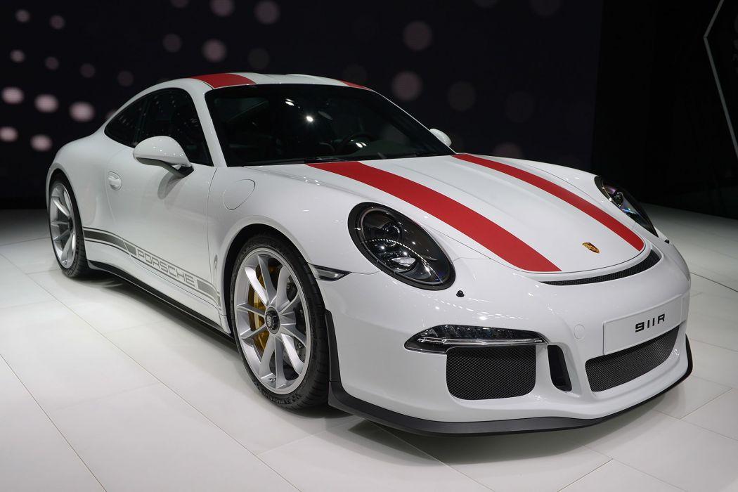 2016 Geneva Motor Porsche 911 R coupe cars wallpaper
