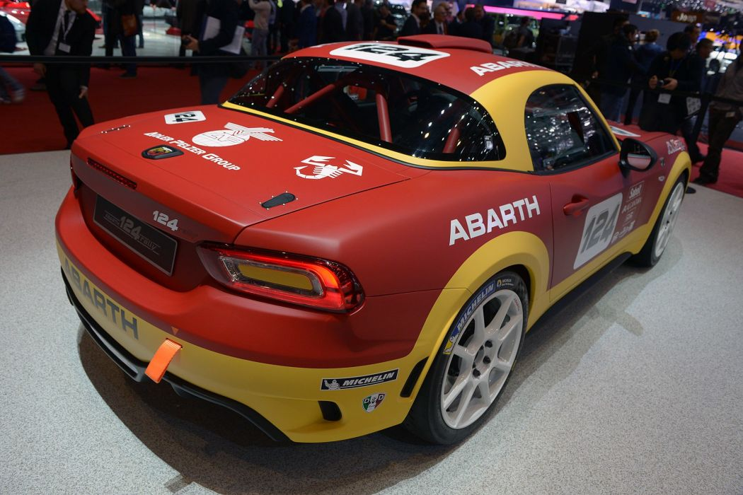 2016 Geneva Motor show Fiat Abarth 124 Rally cars wallpaper