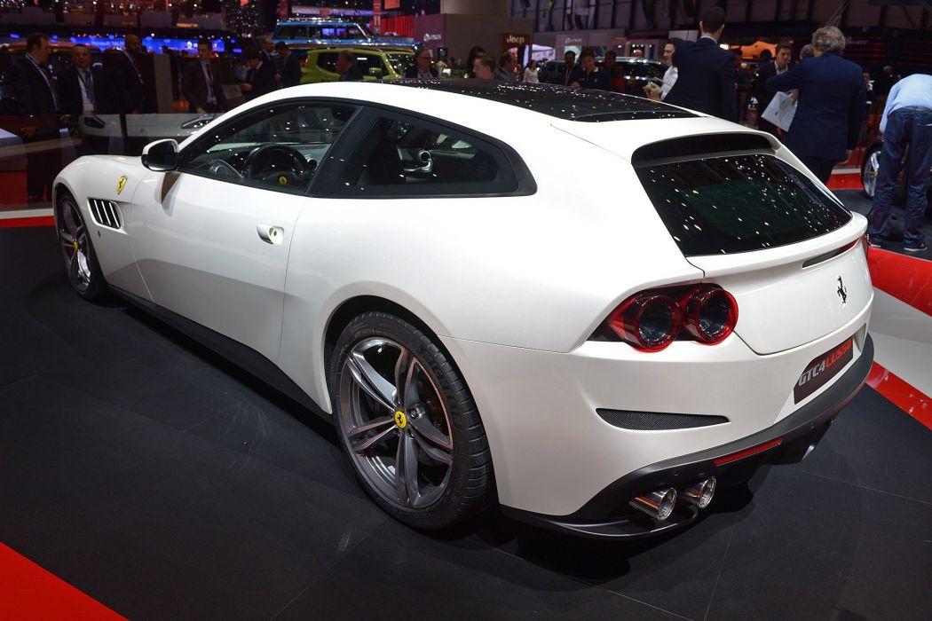 2016 Geneva Motor show Ferrari GTC4 Lusso 2+2 cars wallpaper