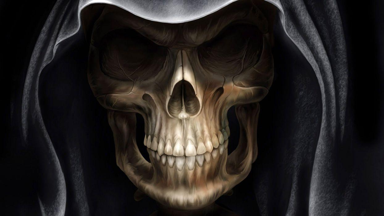 Scary Skeleton dark fantasy wallpaper