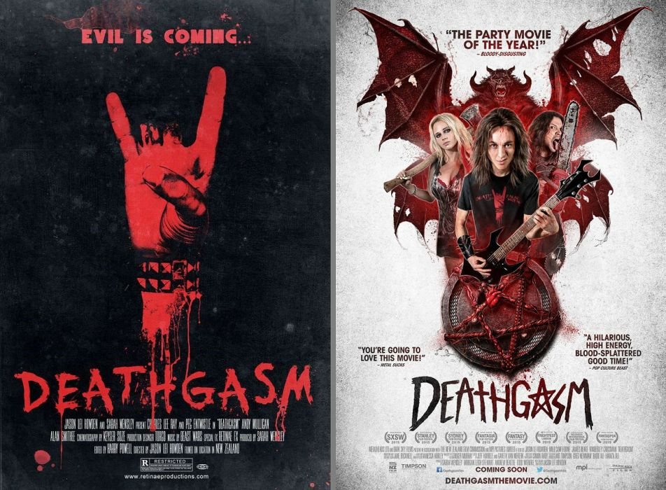 DEATHGASM dark horror evil thriller comedy heavy metal demon occult death zombie poster wallpaper