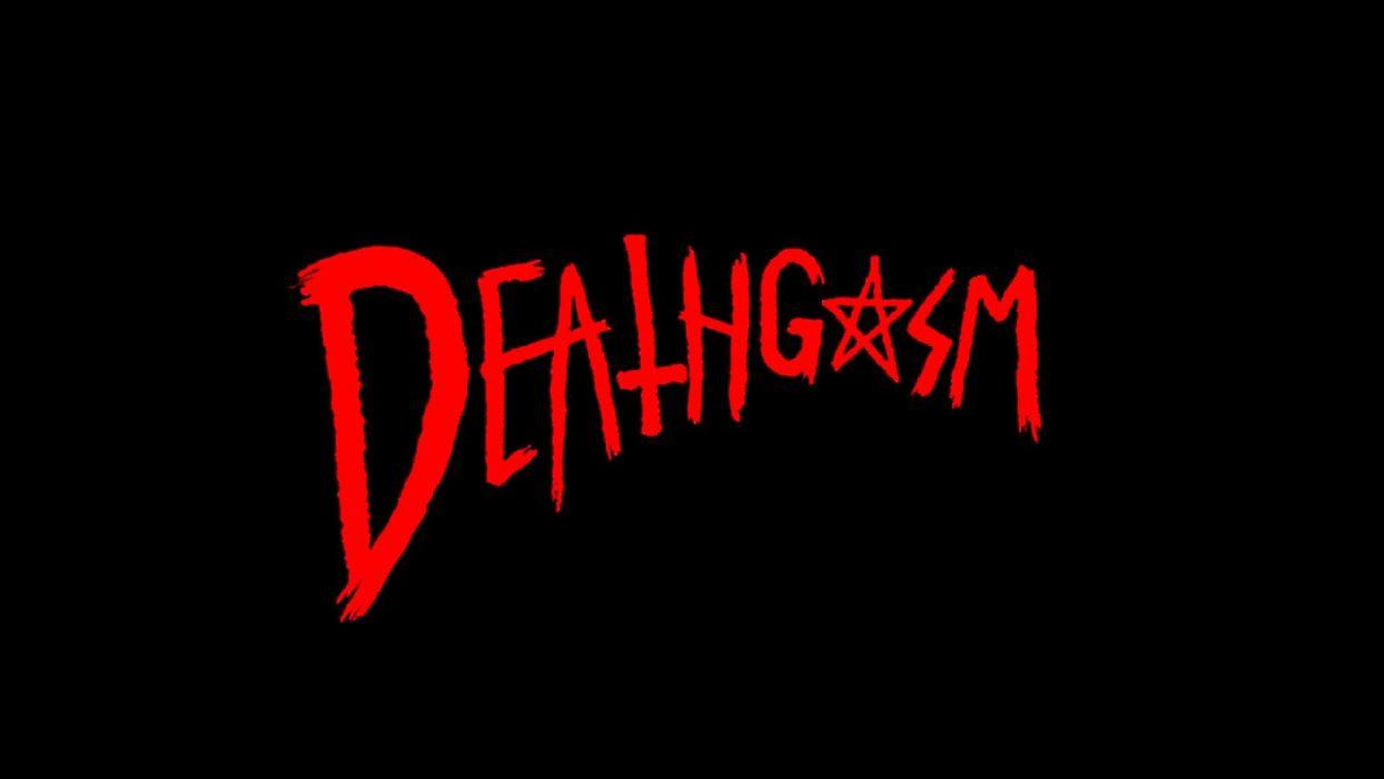 DEATHGASM dark horror evil thriller comedy heavy metal demon occult death zombie poster wallpaper
