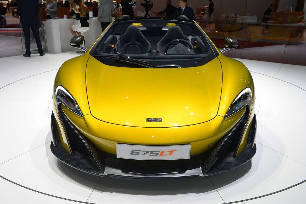 Geneve motor show 2016 McLaren 675LT Spider cars wallpaper