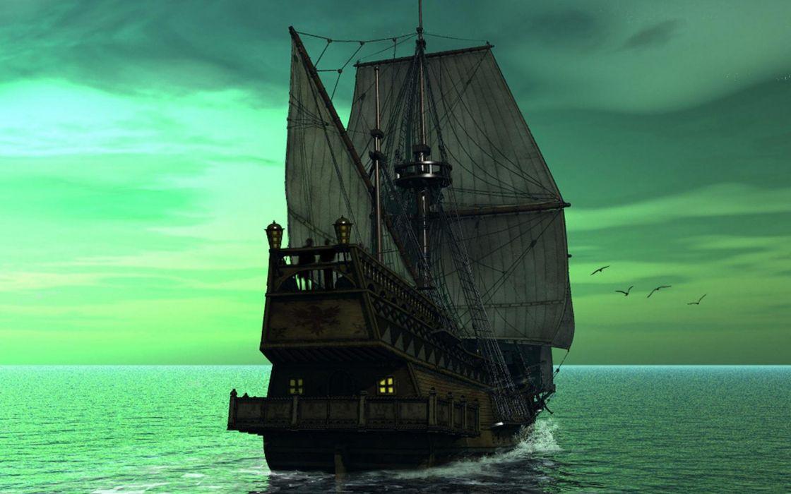 barco galeon velero oceano wallpaper
