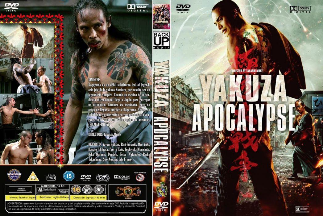 YAKUZA APOCALYPSE martial arts fighting fantasy vampire asian 1yapoc action warrior comedy horror dark poster wallpaper