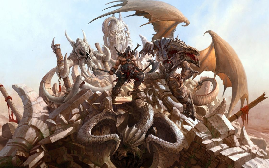 DRAGON ETERNITY fantasy mmo online action fighting rpg warrior warlords wallpaper