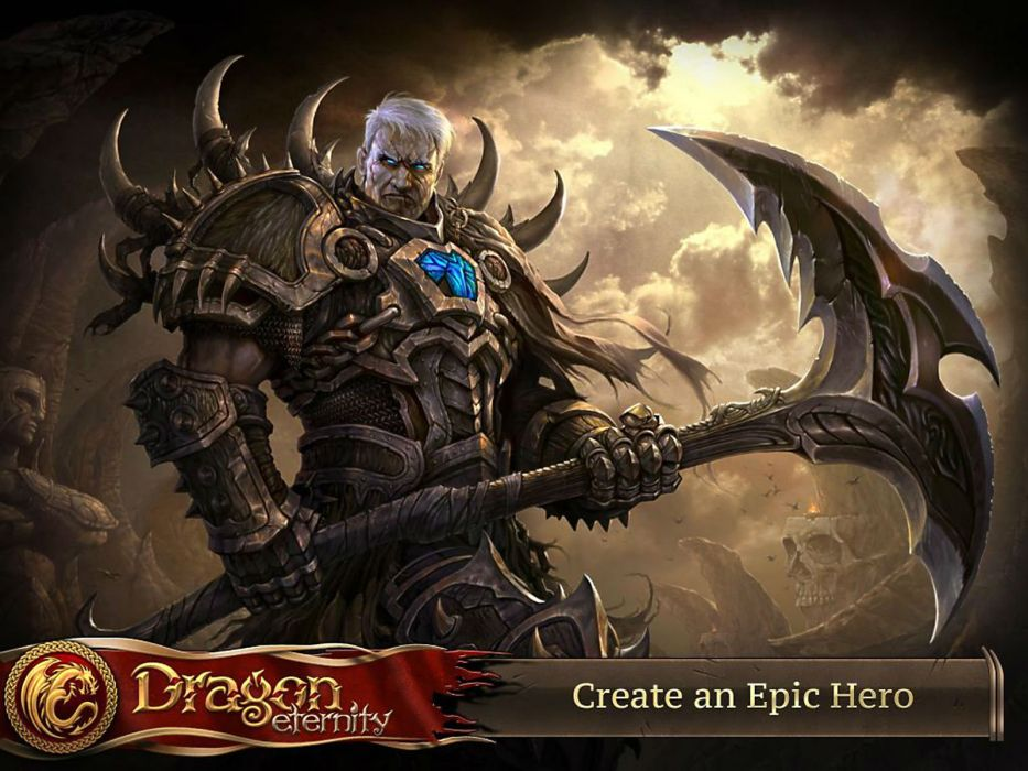 DRAGON ETERNITY fantasy mmo online action fighting rpg warrior warlords poster wallpaper