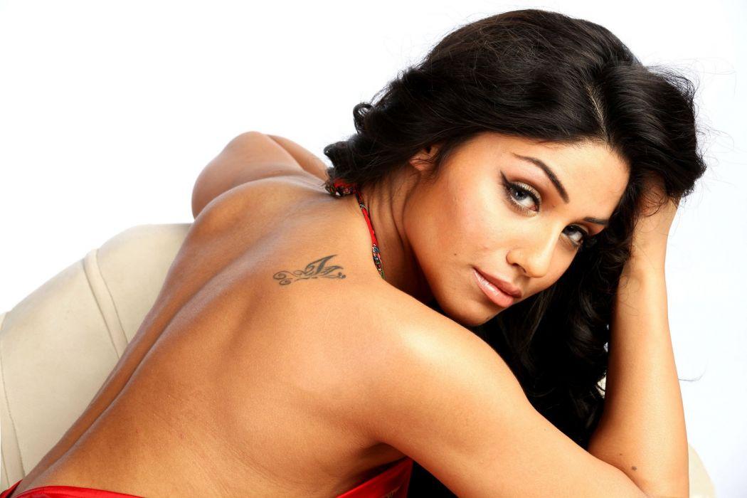 gihana khan bollywood actress model girl beautiful brunette pretty cute beauty sexy hot pose face eyes hair lips smile figure indian  wallpaper