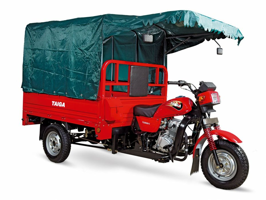 motocarro rojo lona transporte wallpaper