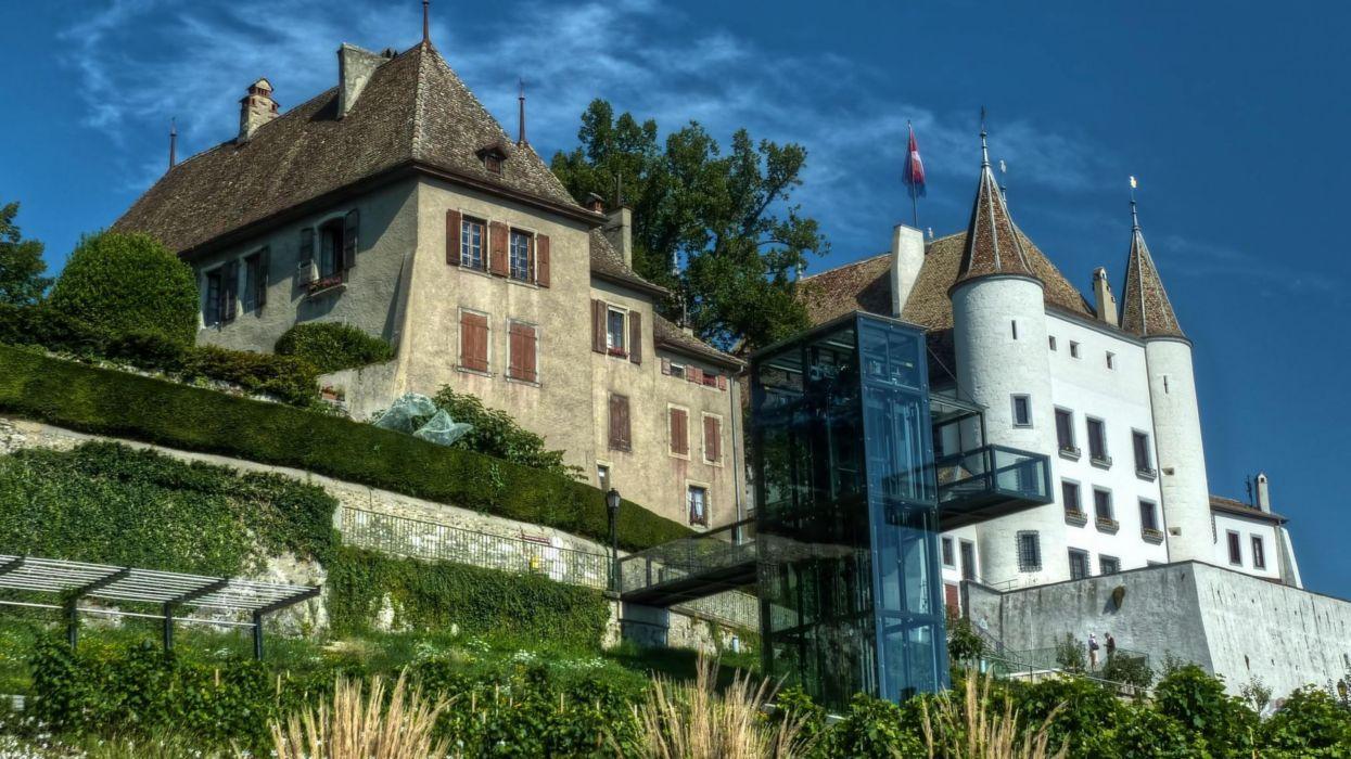 castillo ginebra suiza arquitectura wallpaper