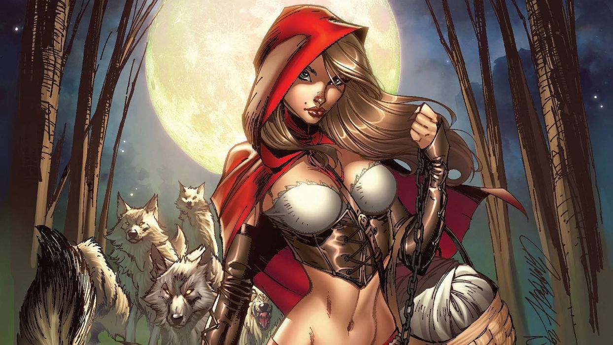 GRIMM FAIRY TALES zenescope wizard fantasy warrior comics artywork art wallpaper