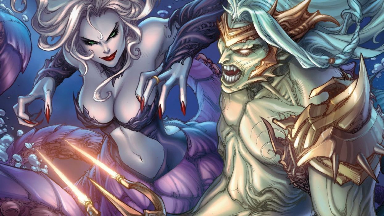 GRIMM FAIRY TALES zenescope wizard fantasy warrior comics artywork art wallpaper