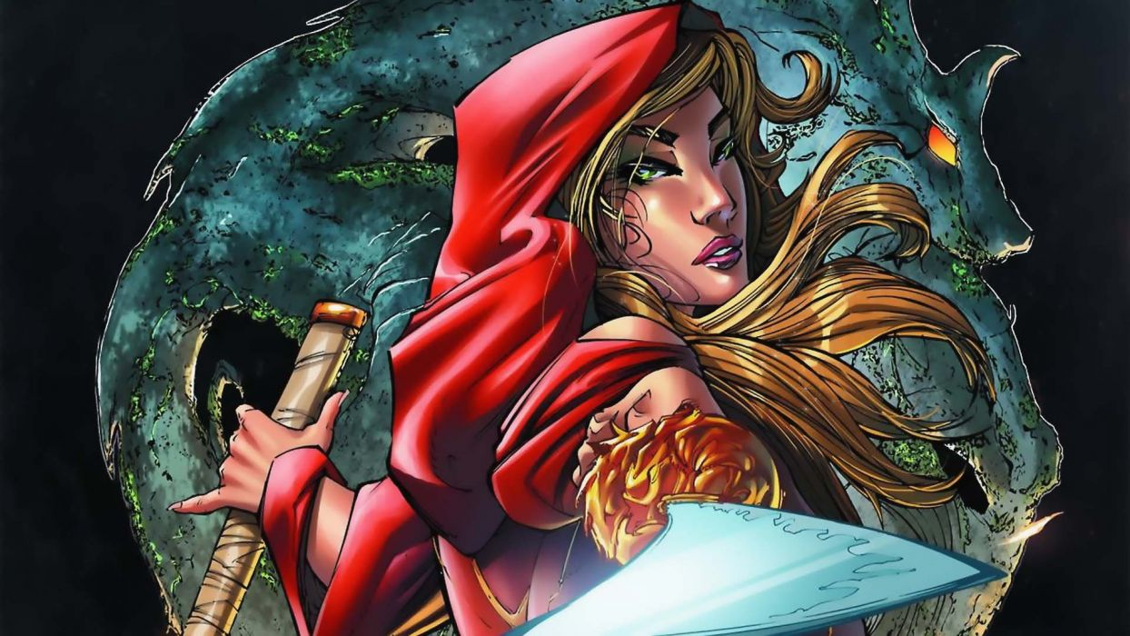 GRIMM FAIRY TALES zenescope wizard fantasy warrior comics artwork art wallpaper
