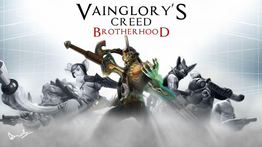 VAINGLORY action fantasy fighting assassin warrior stealth adventure history poster assassins creed wallpaper