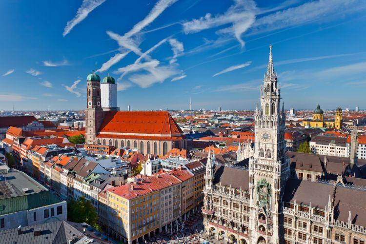 ciudad munich alemania europa edificios casas wallpaper
