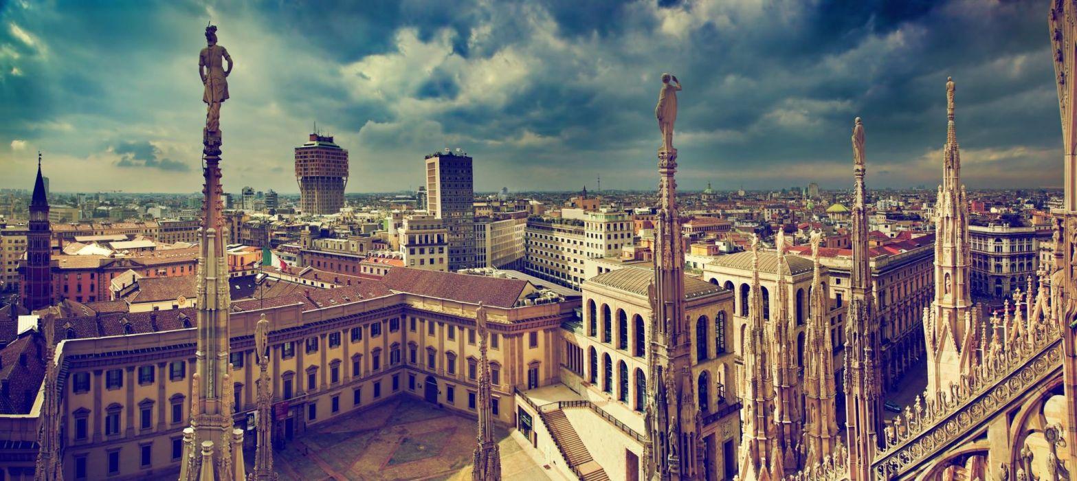 ciudad milan italia europa edificios arquitectura wallpaper
