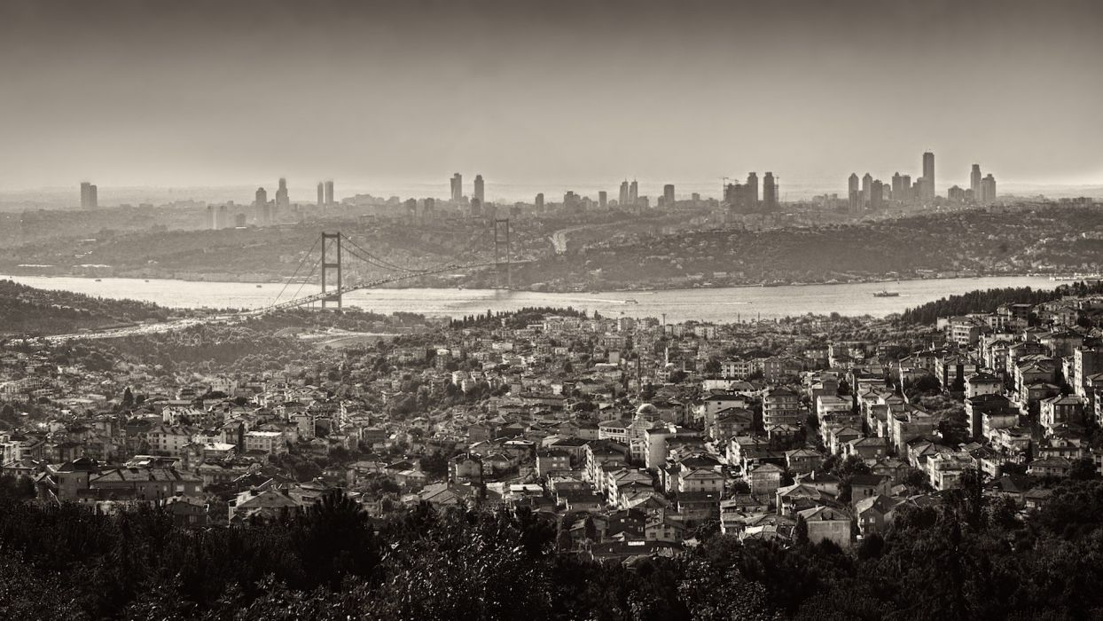 istanbul city turkey amazing beautiful sea bridge wallpaper