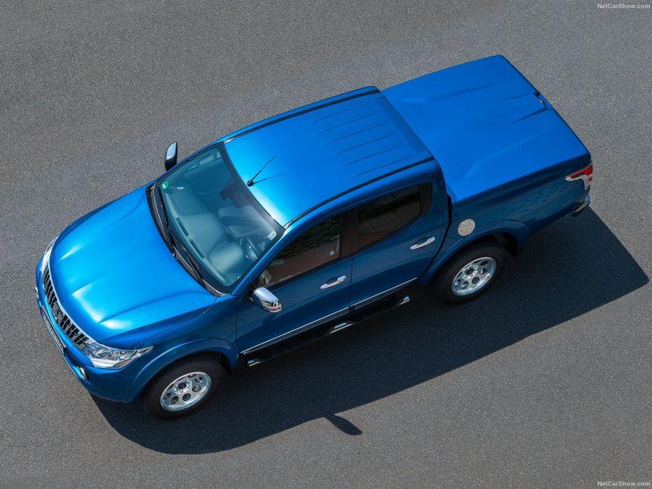 Mitsubishi L200 blue pickup cars 2016 wallpaper