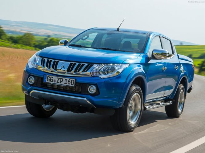 Mitsubishi L200 blue pickup cars 2016 wallpaper