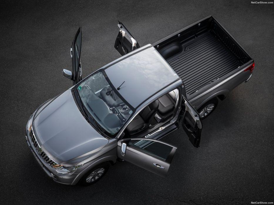 Mitsubishi L200 grey pickup cars 2016 wallpaper
