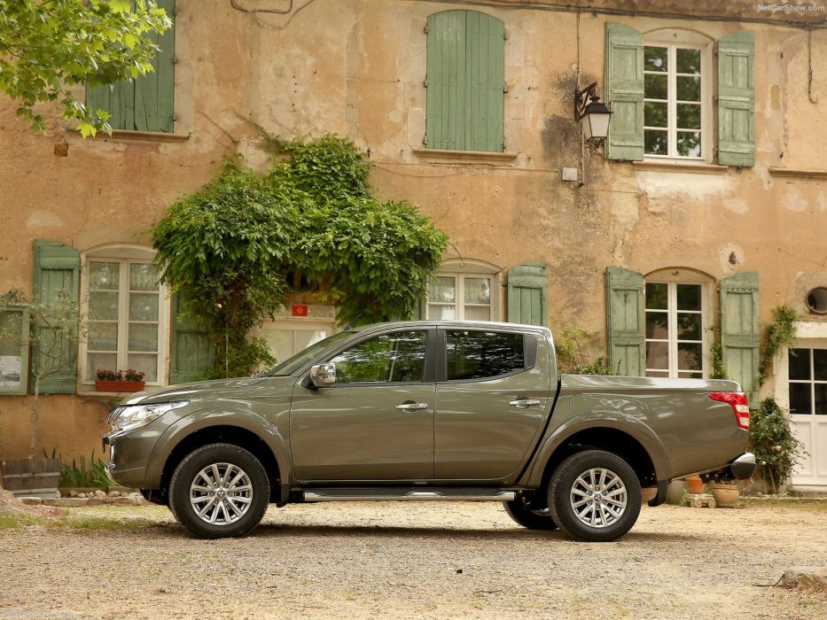 Mitsubishi L200 grey pickup cars 2016 wallpaper
