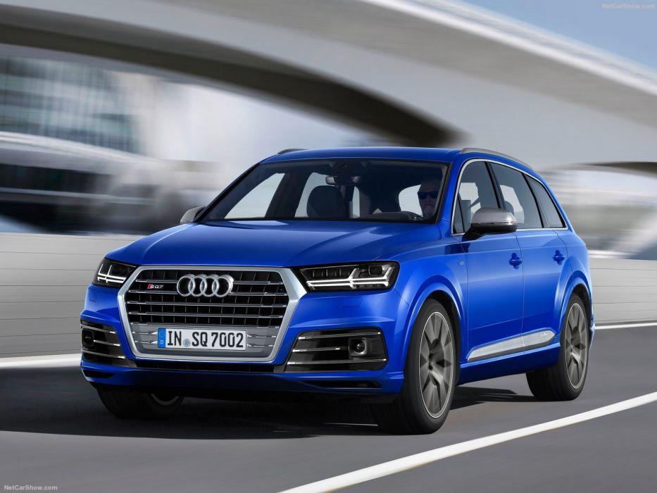 Audi SQ7 TDI cars suv blue 2016 wallpaper