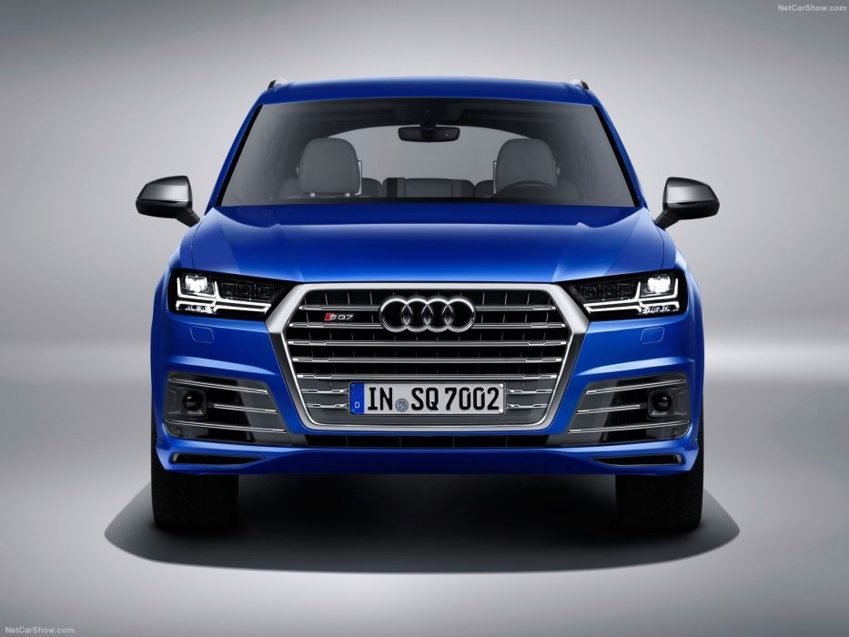 Audi SQ7 TDI cars suv blue 2016 wallpaper