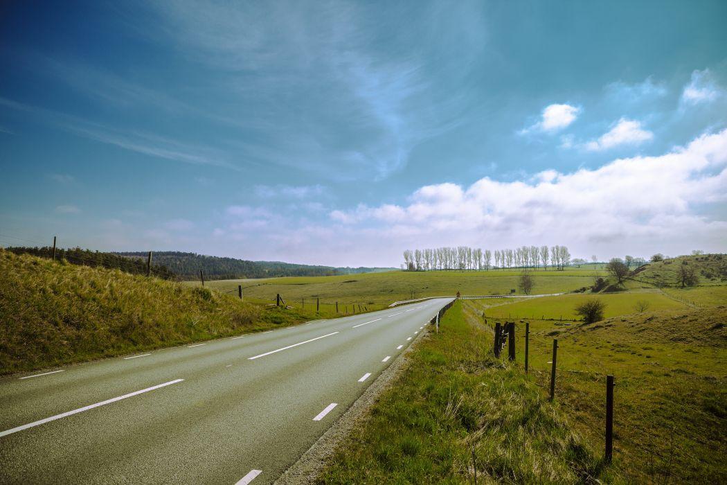 carretera verde cuneta naturaleza wallpaper