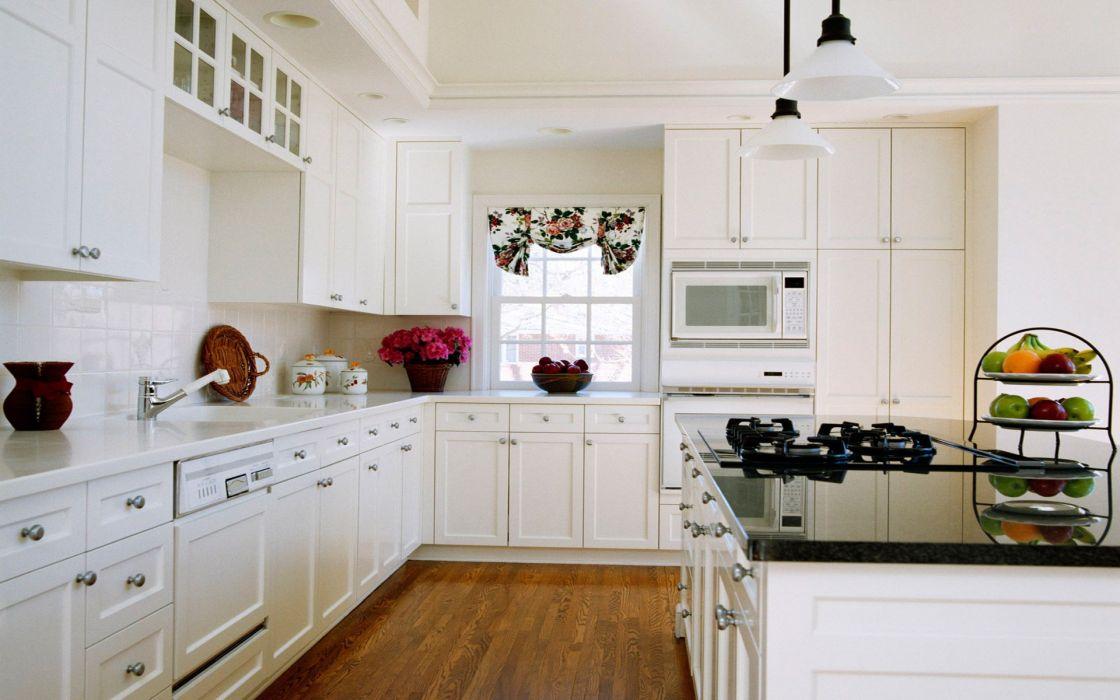 interior cocina blanca diseA wallpaper