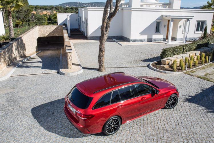 Mercedes Benz C 450 AMG Sport Estate (S205) wagon 2015 cars wallpaper