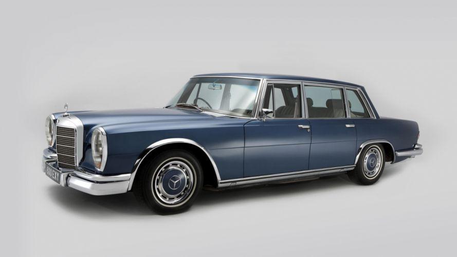 Mercedes Benz 600 UK-spec (W100) cars limo 1964 classic cars wallpaper
