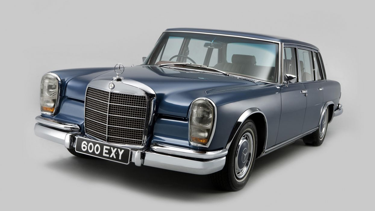 Mercedes Benz 600 UK-spec (W100) cars limo 1964 classic cars wallpaper