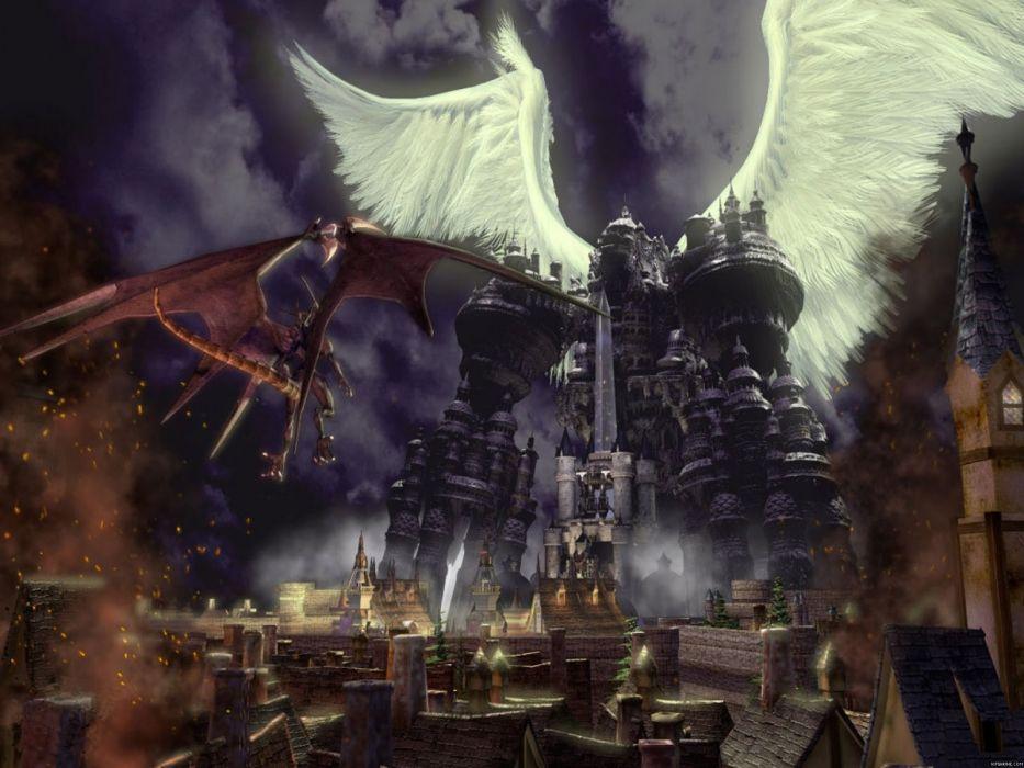 FINAL FANTASY action rpg fighting fantasy combat battle warrior perfect art artwork wallpaper