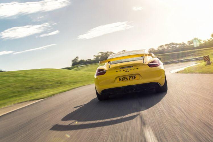 Porsche Cayman GT4 UK-spec (981DA) cars coupe 2015 wallpaper