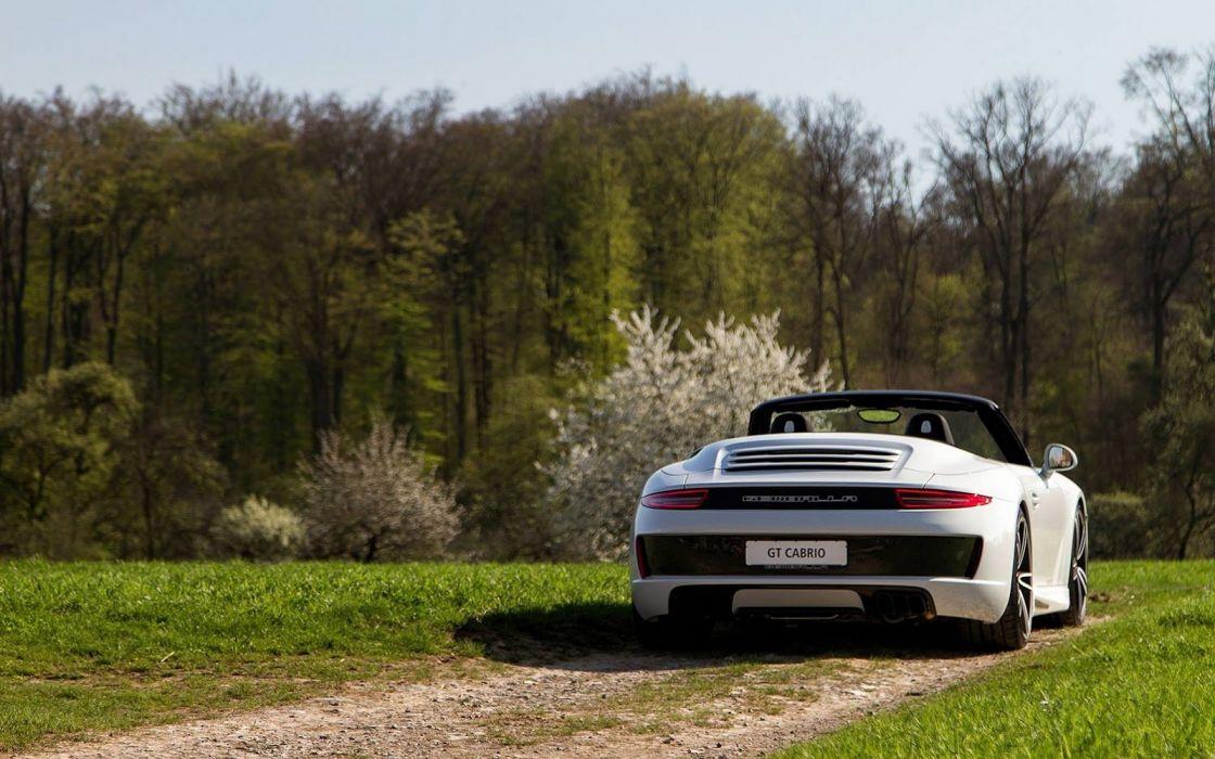 Gemballa GT Cabrio porsche 911 cars white modified wallpaper
