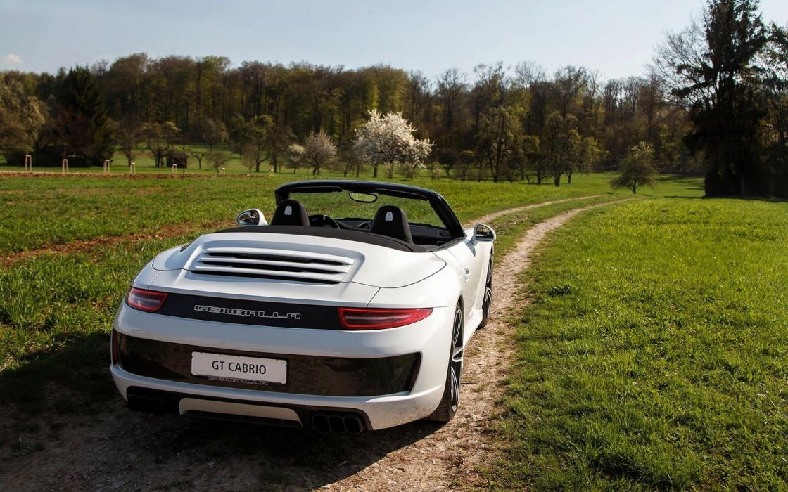 Gemballa GT Cabrio porsche 911 cars white modified wallpaper
