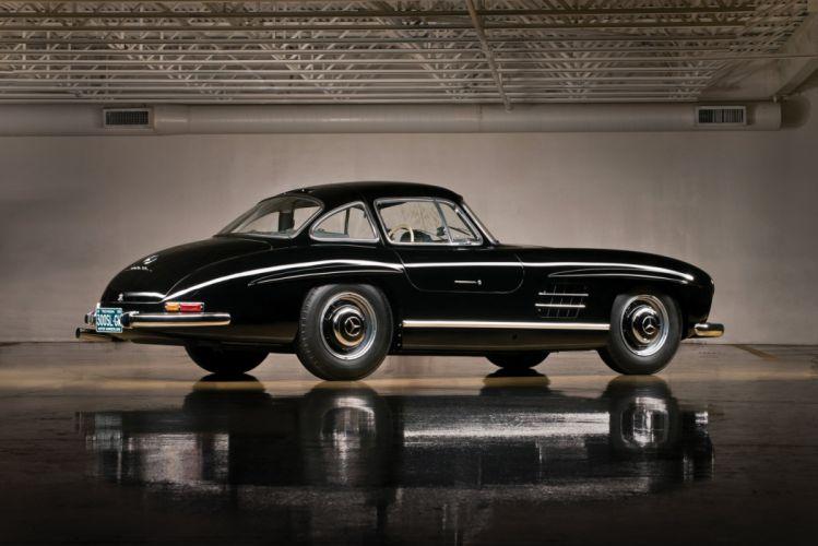 Mercedes Benz 300 SL (W198) cars black classic 1958 wallpaper