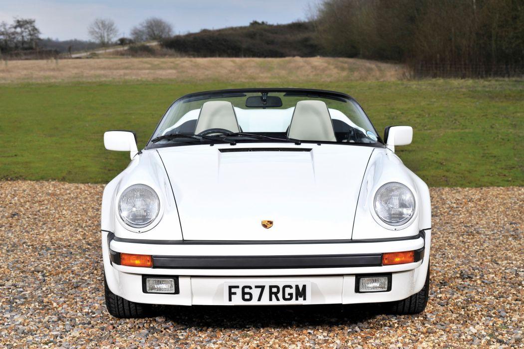 Porsche 911 Carrera Speedster Turbolook UK-spec cars white 1989 wallpaper