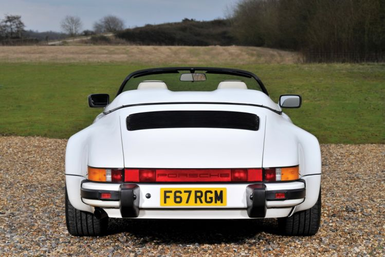 Porsche 911 Carrera Speedster Turbolook UK-spec cars white 1989 wallpaper